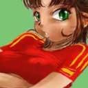 Chica camiseta España