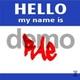 Descarga fondonombres Mi nombre es (azul)